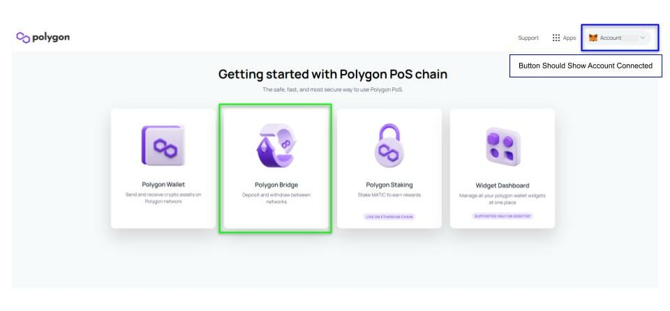 Bridge to Polygon Network - Metamask - 8